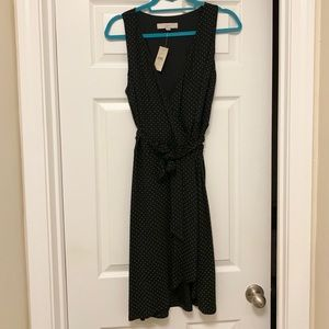 Polka dot wrap dress from Loft